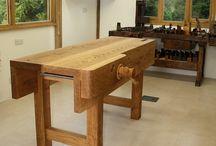 Work bench-metal bench / Pracovný stolarsky stôl