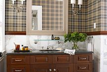 Master Bathroom mini makeover ideas. Must incorporate the 2 main items that will be staying...the tan toilet and shower.