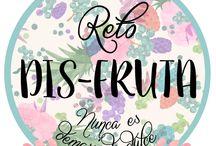 Reto Dis-Fruta (Nunca es demasiado dulce) / //Te propongo un reto. Preparemos juntos recetas deliciosas en torno a un ingrediente común: LA FRUTA. Cada mes estará protagonizado por una fruta distinta. ¿Quieres dis-frutar? Visita el blog y descubre toda la info//  //I propose you a challenge. We'll prepare delicious recipes together around a common ingredient: FRUIT. Each month will star by a different fruit. All info in the blog//