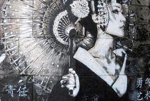 Street art Asian Girl
