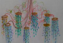 Projet de lustres en verre recyclé / Projets de lustres alliant le fer forgé et le verre recyclé... Nouveaux design, nouvelles technologies de luminaires. Tous nos lustres sont fabriqués de manière artisanale sur mesure: Les Artisans du Lustre: www.i-lustres.com