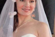 Romantic Bride / Bride Elana chose a romantic look for her hair and fresh look for her makeup.