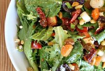 yummy!...salads / a perfect combination of crispy greens, veggies, other yummies, and delightful dressings...mmmm... / by Karen Howell