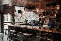 meja bar dan kursi bar