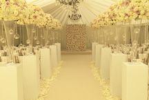 Marquee wedding flowers / Ceremony flowers