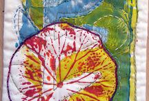 art - gelatin plate prints / by modern marks