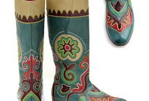 ICHIGY  - Tatar boots made ​​of leather. / This is a traditional footwear in the Republic of Tatarstan - Kazan . I'm from Kazan. So there is something to be proud of.