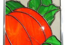 Automne en verre / Objet représentant l'automne fait ou a faire avec du verre.