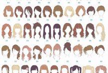 髪の描き方