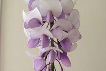 Nylon bloemen / Deze bloemen gemaakt van pantys