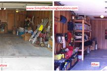 Organizing Your Garage / Organizing ideas for your garage, including before and after pictures from our client work.