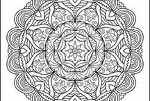 Adult colouring pages/mandalas
