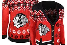 Chicago Sports Ugly Christmas Sweaters / Steal the show at your next holiday party with these Chicago Sport Themed Ugly Christmas Sweaters