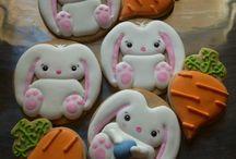 Biscoitos coelhos