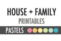 House + Family Printables - DIY Planner - Pastels / House + Family Printables - DIY Planner - Pastels