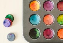 Kids craft ideas / Reuse crayons. For same hand