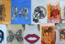 Zawijas koszulki ręcznie malowane / Moje inspiracje.