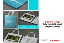 {Invitation Design} BAG INVITATIONS / This is an inspiration board for BAG INVITATIONS