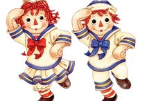 Raggedy Ann and Andy & Other Rag Dolls / Because I love these two!  / by Lovely Camilla