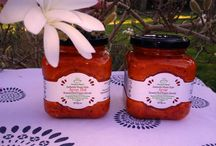 Ayvar - Roasted Red Pepper Spreads / An ancient Balkan recipe. Red peppers are fire roasted , hand peeled, mixed with garlic then slow cooked with a little oil. There's only three ingredients!  When you taste Ayvar you are transported into the heart of the Serbian countryside with field upon field of red pepper stretching across the hills.The sites, sounds and smells of harvest and the preparation for the winter ahead echo back over generations in timeless rhythm of work and harmony.