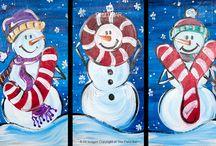 idei desene iarna