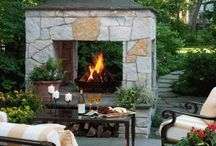 outdoor fireplaces, kitchens and firepits
