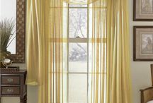 Solid Color Voile Sheer Valance Panels / Solid Color Voile Sheer Valance Panels