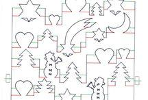 karácsonyi sablonok
