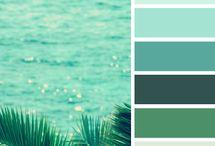 Wallpaper bedroom aquamarine