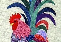 Quilting - Chickens / Chicken quilts