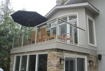 Aluminum Railing / Aluminum railing has become a very popular alternative to your typical pressure treated railing. It can offer a much more attractive, clean and very low maintenance option. Here at Norcol we offer over 40 powder coated colors, 3 height choices and many different picket and glass combinations to suit your needs.