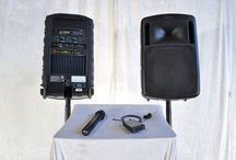 Equipment for Rent / For the DIY event producer, planner, DJ or audiophile...These are the many different rental packages you can get at RCI Systems.  These systems are perfect for weddings, small gatherings, or backyard concerts.