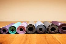 Yoga mats and props / Never go down on mats and props - just saying'.