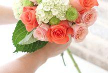 Bridesmaid coral boquet