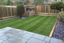 Garden - Low Maintain / Features: Grass, raised beds, hidden tool storage, play area, bbq/seating area.