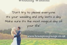 Wedding Wisdom #weddingwisdom / Useful wedding planning advice #weddingplanning #weddingwisdom