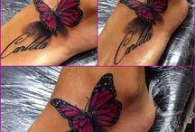 tatuaze motylki 3D