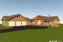 Green Lake, BC Project / This is a preliminary design we recently completed for a vacation home in beautiful Green Lake, B.C. Please click the link below to read more about this stunning project!