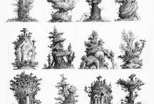 trees drawings
