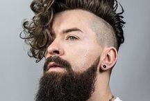 homens, barba
