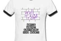 Wall T-Shirt / A T-shirt wall, write on anything you want! Una maglietta muro, scrivici sopra tutto quello  vuoi! Ein T-Shirt Wand, schreiben Sie auf, was Sie wollen!