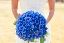 bouquets-wedding blue