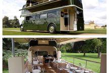 double decker bus funky restaurant