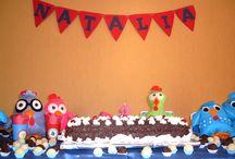 Festa Galinha Pintadinha / Decoração de festinha de criança com tema Galinha Pintadinha. Decoração feita em feltro.