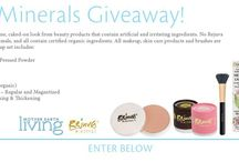 Give Aways and Exclusive Offers! / Savings on natural/organic cosmetics from Rejuva Minerals. Free of common irritants. Vegan.