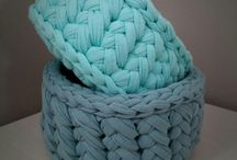 DIY. Crochet baskets