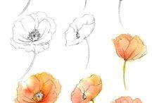 цветы пошагово