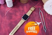 Apple Watch Leather Band - Golden Color
