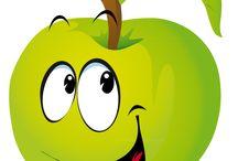 Dibujos de frutas divertidos