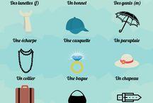 les vocabulaires français
